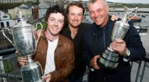 Northern Ireland Golfing Superstars Rory McIlroy Graeme McDowel Darren Clarke