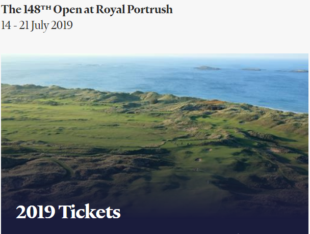 Tickets available to the 148th Open at Royal Portrush 2019